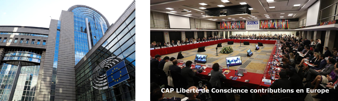 CAP Liberté de Conscience contributions en Europe