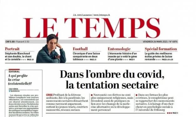L'anti-sectarisme français exporté vers la Suisse