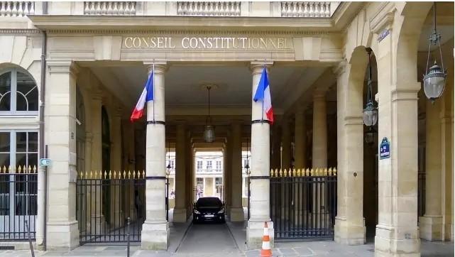 L'entrée du Conseil constitutionnel à Paris